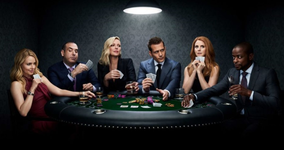 harvey specter plays poker